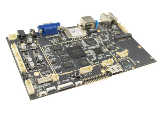 Quad Core Embedded Linux Board 1GB DDR3 16GB Memory 800W Pixels For Display